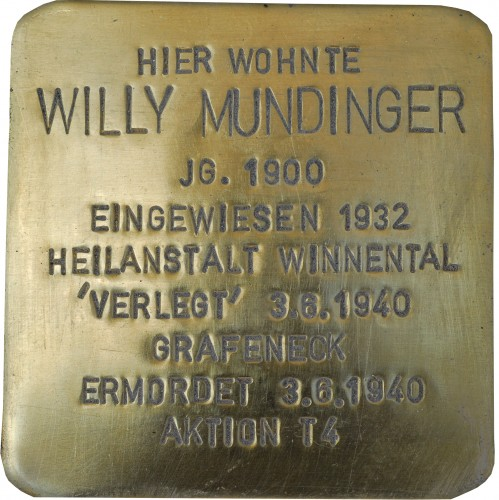 Stolperstein Mundinger_Willy
